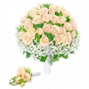 Купить свадебный букет-№72 в Хабаровске