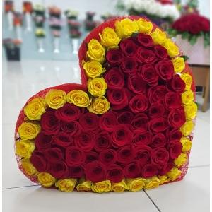 Купить букет сердца в Хабаровске