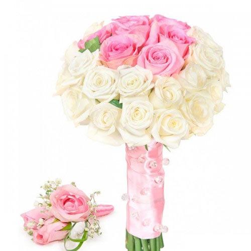 Купить свадебный букет-№61 в Хабаровске
