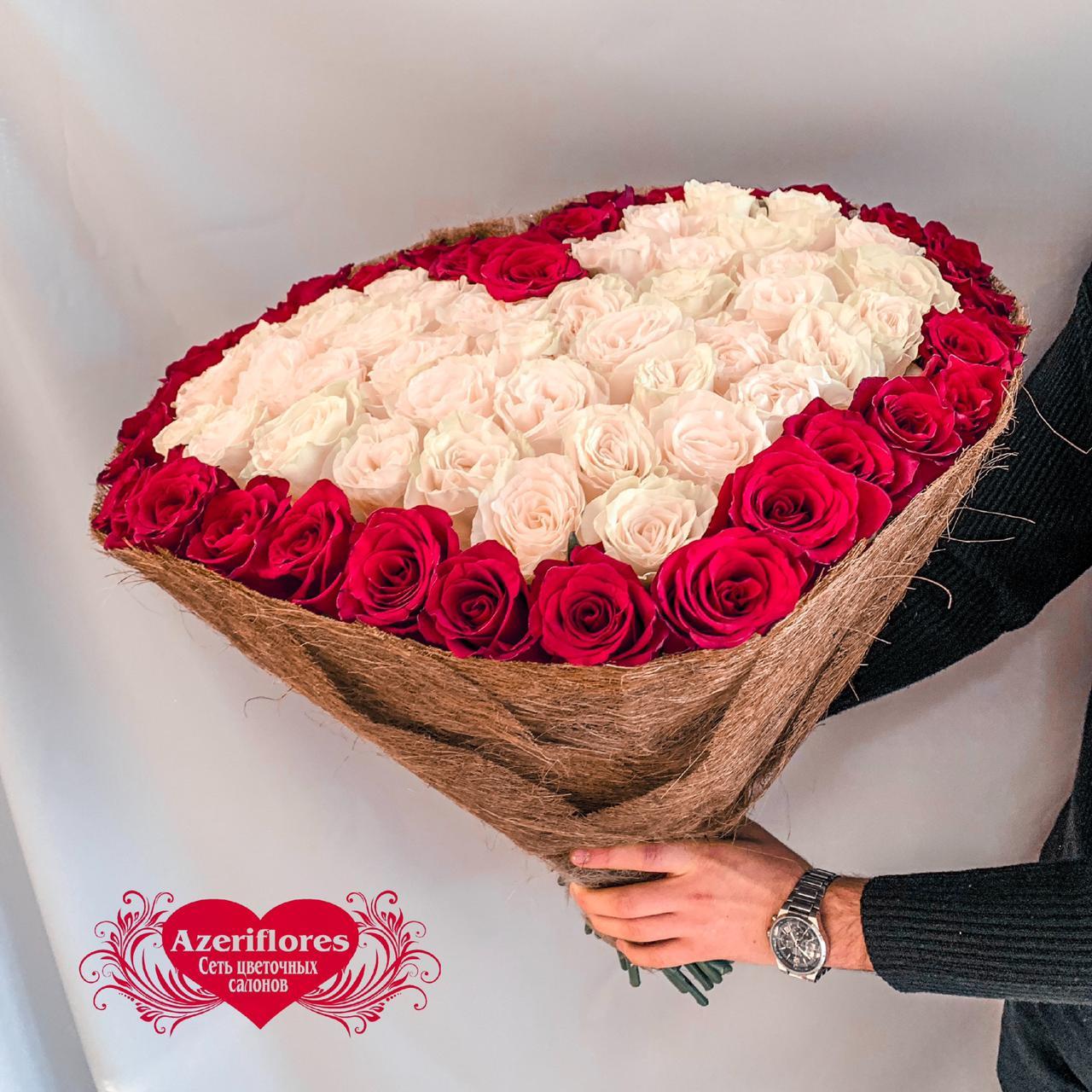 Букет в виде сердца ростов на дону, цветов
