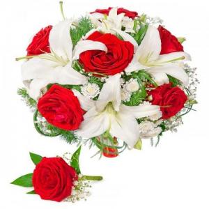 Купить свадебный букет-№97 в Хабаровске