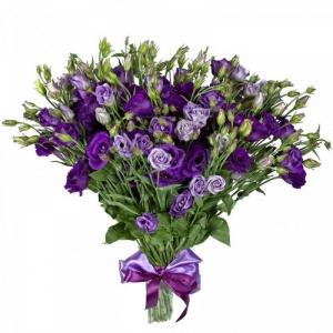 Купить букет из фиолетового лизиантуса в Хабаровске