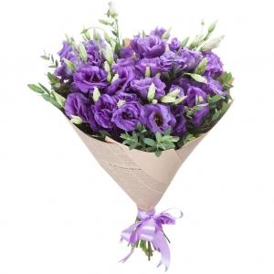 Купить букет из 15 фиолетовых лизиантусов в Хабаровске