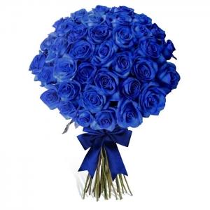 """Купить букет """"Милое облачко"""" из 21 синей розы в Хабаровске"""