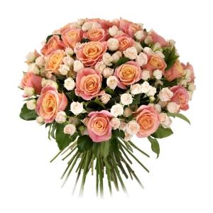 Купить букет из мини и кустовых роз в Хабаровске