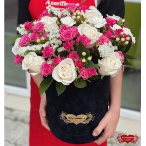 Коробка цветов «Мягкость» с доставкой в Хабаровске