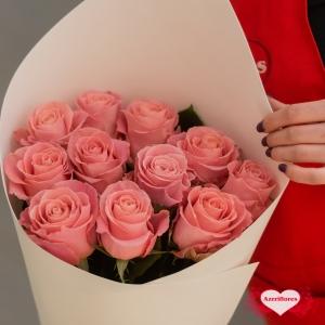 """Купить букет """"Розовая нежность"""" из 11 розовых роз в Хабаровске"""