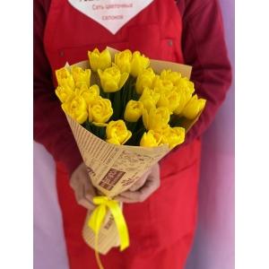Купить букет из 25 жёлтых тюльпанов с доставкой в Хабаровске