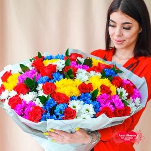 Купить букет из ромашек и роз в Хабаровске