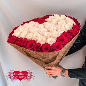 Купить букет в виде сердца в Хабаровске