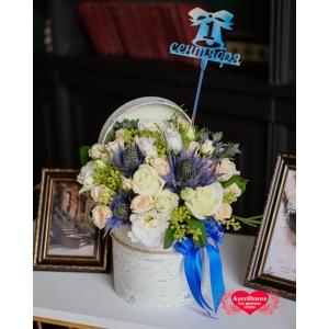 Купить коробку цветов к 1 сентября в Хабаровске
