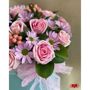 Купить коробку цветов «Улыбка» с доставкой в Хабаровске