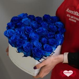 Коробка цветов в форме сердца «Чудо» с доставкой в Хабаровске