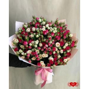 Купить микс из кустовых роз с доставкой в Хабаровске