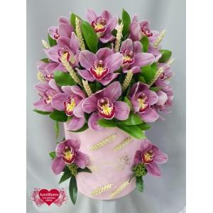 Купить коробку с королевской орхидеей в Хабаровске