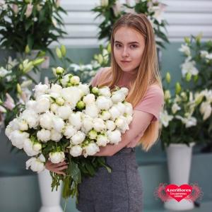 Купить белые и розовые пионы в Хабаровске