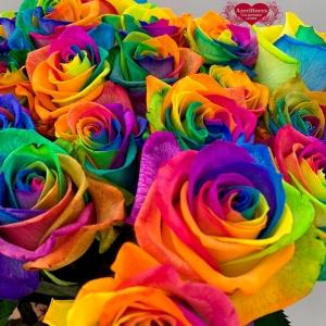 Купить радужную розу в Хабаровске