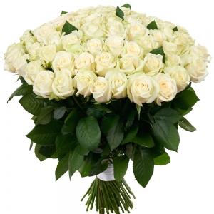 Купить охапка из 101 белых роз в Хабаровске
