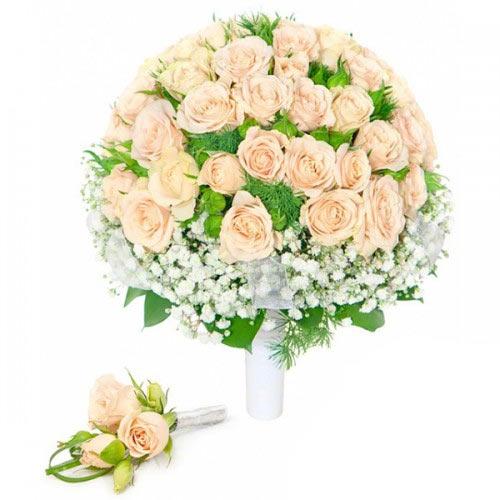 Купить свадебный букет-№111 в Хабаровске