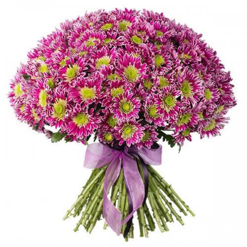 """Купить букет """"Плюшевое настроение"""" из 31 хризантемы в Хабаровске"""