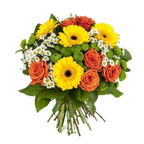 Купить букет из герб, роз и хризантем в Хабаровске