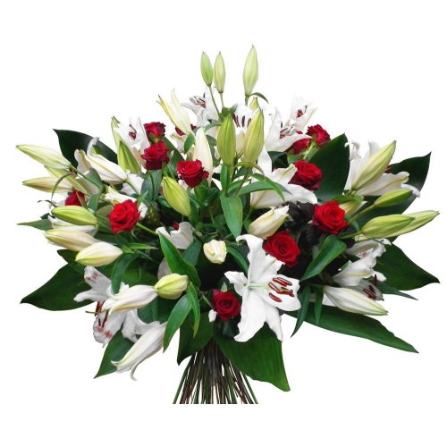 Купить букет из лилий и роз в Хабаровске