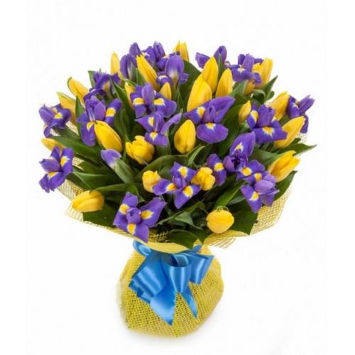Купить букет из тюльпана и ириса в Хабаровске