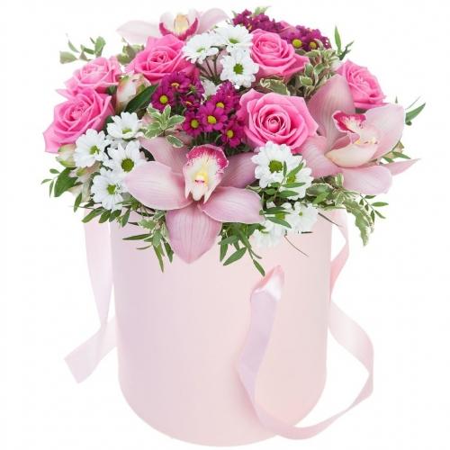 Купить коробку цветов «Нежность» в Хабаровске