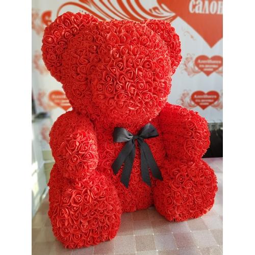 Купить красного мишку из красных фоамиран в Хабаровске