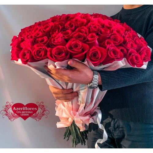 Купить букет из 101 красной розы в Хабаровске