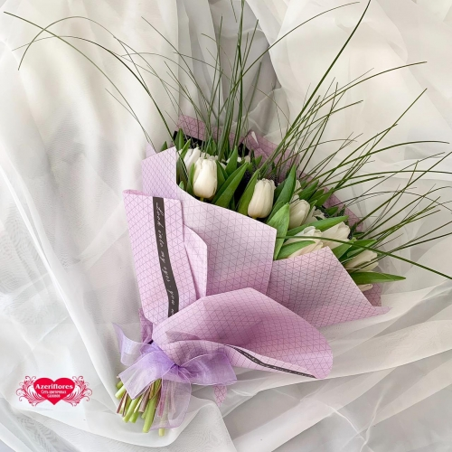 Купить букет из 51 тюльпана в Хабаровске
