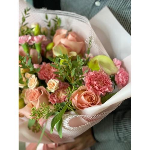 Купить букет «Пудровый джем» с доставкой в Хабаровске