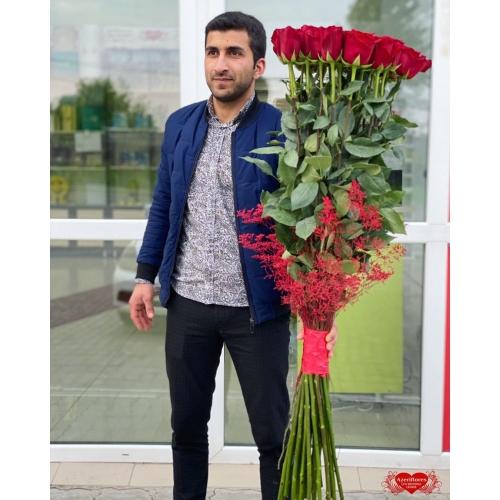 Купить охапку роз 140 см с доставкой в Хабаровске