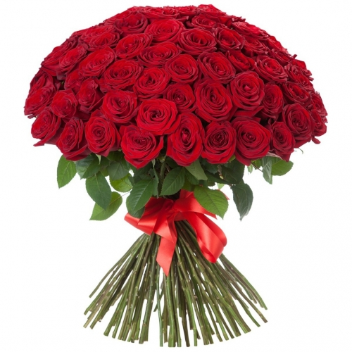 Купить охапку красных роз в Хабаровске
